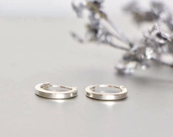 Silver 10mm Hoops, Ear Hoops, Delicate Rings For Ears, Piercing Hoops, Tiny Body Hoops, Gift Earrings, Cartilage Hoops,(ES23)