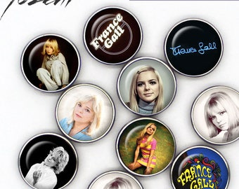 """Snap Button """"France Gall"""", Chunks, Charms interchangeables, Noosa style"""