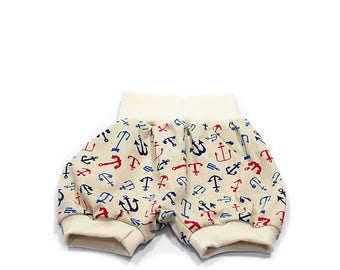 Summer Shorts 'Colorful Anchor' for Kids