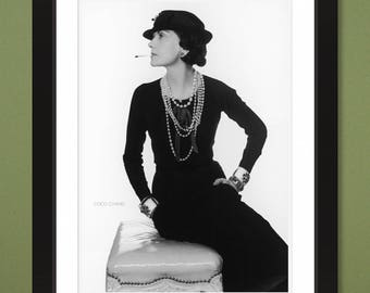 Coco Chanel by Photographer Man Ray (1935) 12x16 Heavyweight Art Print