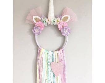 Unicorn Dreamcatcher / Wall Hanging / Nursery Decor