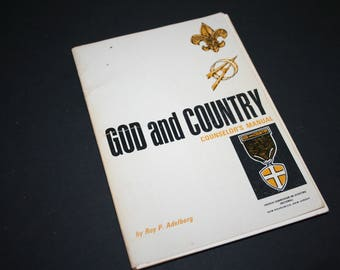 Boy Scouts God and Country Counselor's Manual, Used Vintage, 1969, Boy Scout Manual by Roy P. Adelberg