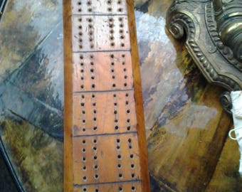 Vintage Wooden Cribbage Board - Hanging Late 40s Early 50s
