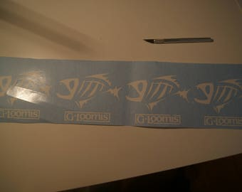 Decal fishing, fish, gloomis, fisherman boat