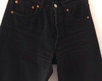 Levis 501 Jeans, High Waisted Black Size 28/34