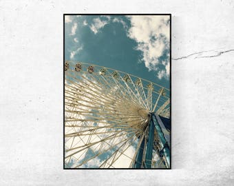 Ferris wheel 02 ferris wheel photography Photography poster vintage from 45 x 30 cm