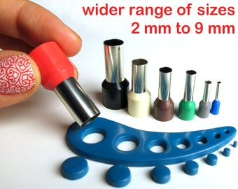 Polymer clay mini circle cutters set, kemper style, no seams - 9 mm to 2 mm