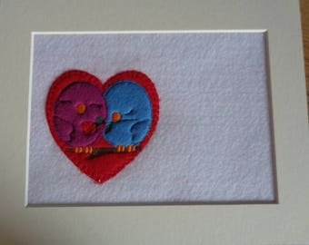 Applique Love Birds on A Branch Picture