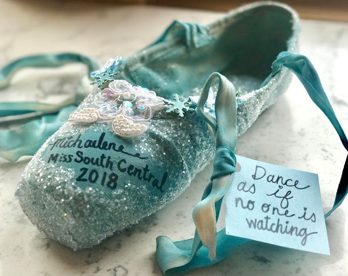Limited Edition Decorated Keepsake Pointe Shoe, Hand Painted, One of a Kind Ballet Slipper, Nutckracker