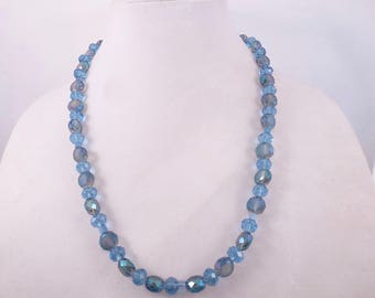 Blue Dodecahedron Necklace