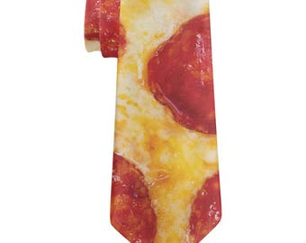 Pepperoni Cheese Pizza All Over Neck Tie