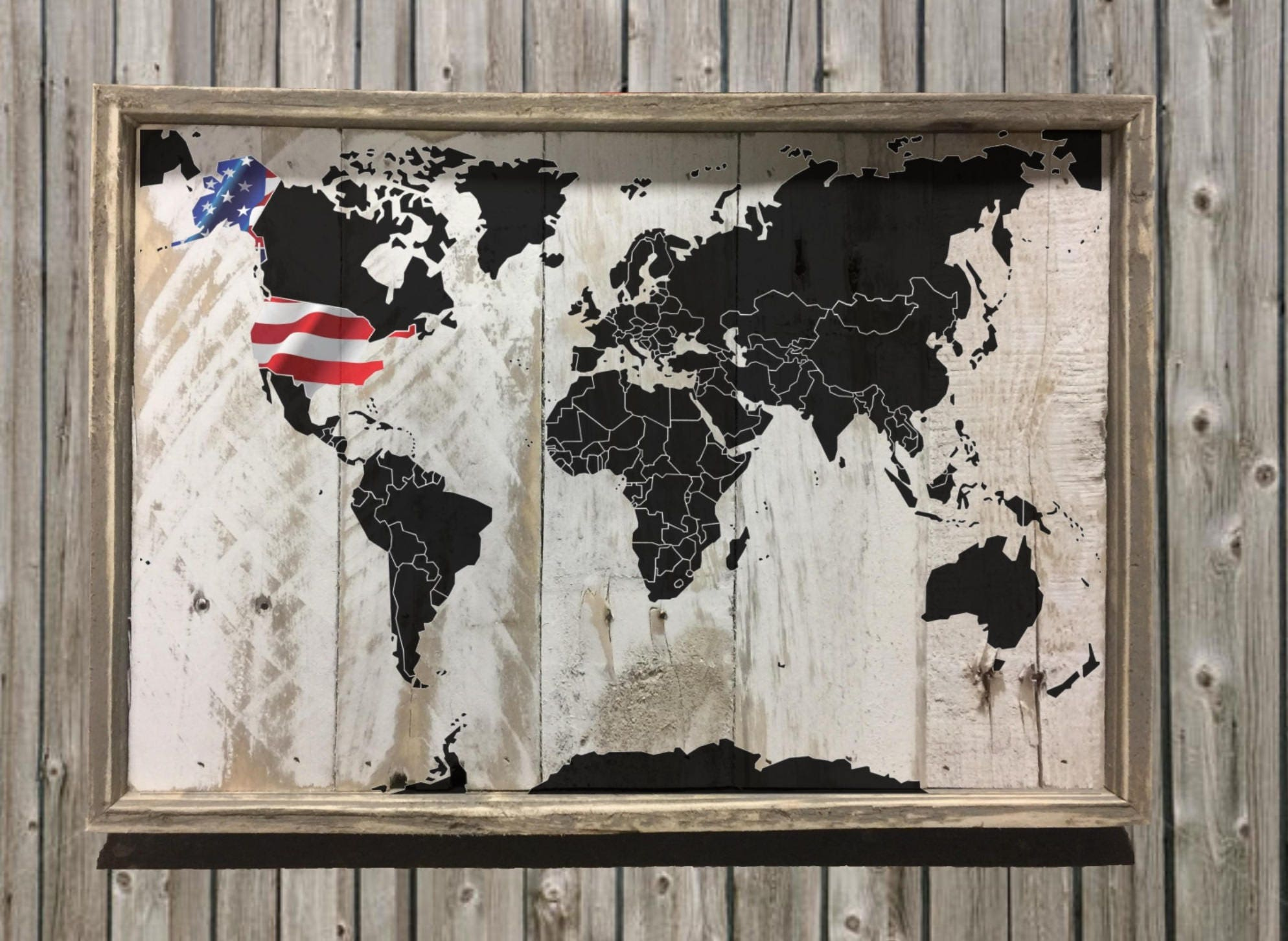 Usa world map decor home kitchen images one of a kind item usa world map decor home kitchen images one of a kind item perfect as a present for any occasion interior reclaimed wood decor gumiabroncs Image collections