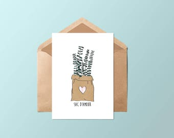 Card • love bag