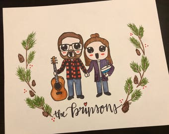 Custom family watercolor