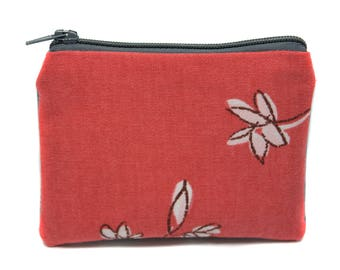 woman's wallet in floral fabric