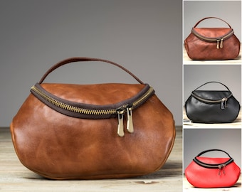 Leather Makeup Bag, Leather Makeup, Leather Make Up Bag