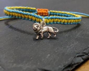 Sterling Silver Lion Charm Bracelet