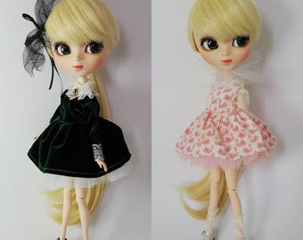 READY STOCK - Cute 3 pieces Dress / Outfit Set for Blythe, Icy, Pullip Doll