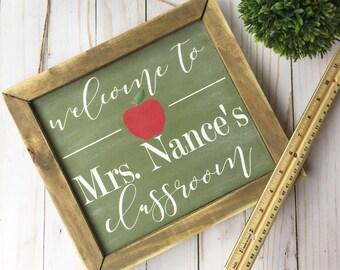 Teacher Classroom Sign | Personalized Teacher Sign