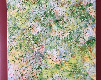 """Abstract painting """"The Fragrance of Fresh Cut Grass"""""""