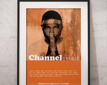 Frank ocean print, Frank Ocean art, Hip hop poster, Frank ocean poster, Frank Ocean wall decor, Frank Ocean gift idea, channel Orange