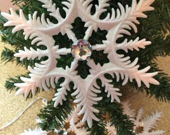 Snowflake Ornament, Christmas Ornament, Tree Ornament, Winter Wonderland Ornament