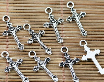 2-colors little crucifix cross design charms to Pick