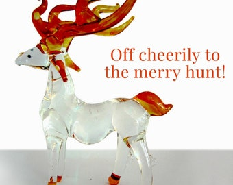 Fabulous glass figurine - deer