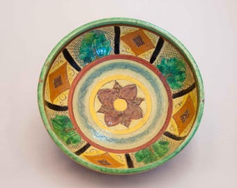 Made in Italy Pottery Bowl, Handmade Pottery