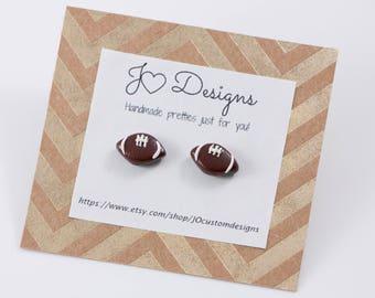 Football Studs, Football Earrings, Football Jewelry, Football Mom Jewelry, Football Mom Earrings, Football Gifts, Football Mom Gifts