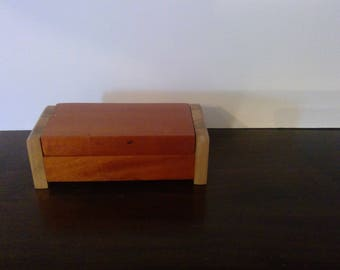 Mahogony and Ambrosia Maple wood Box