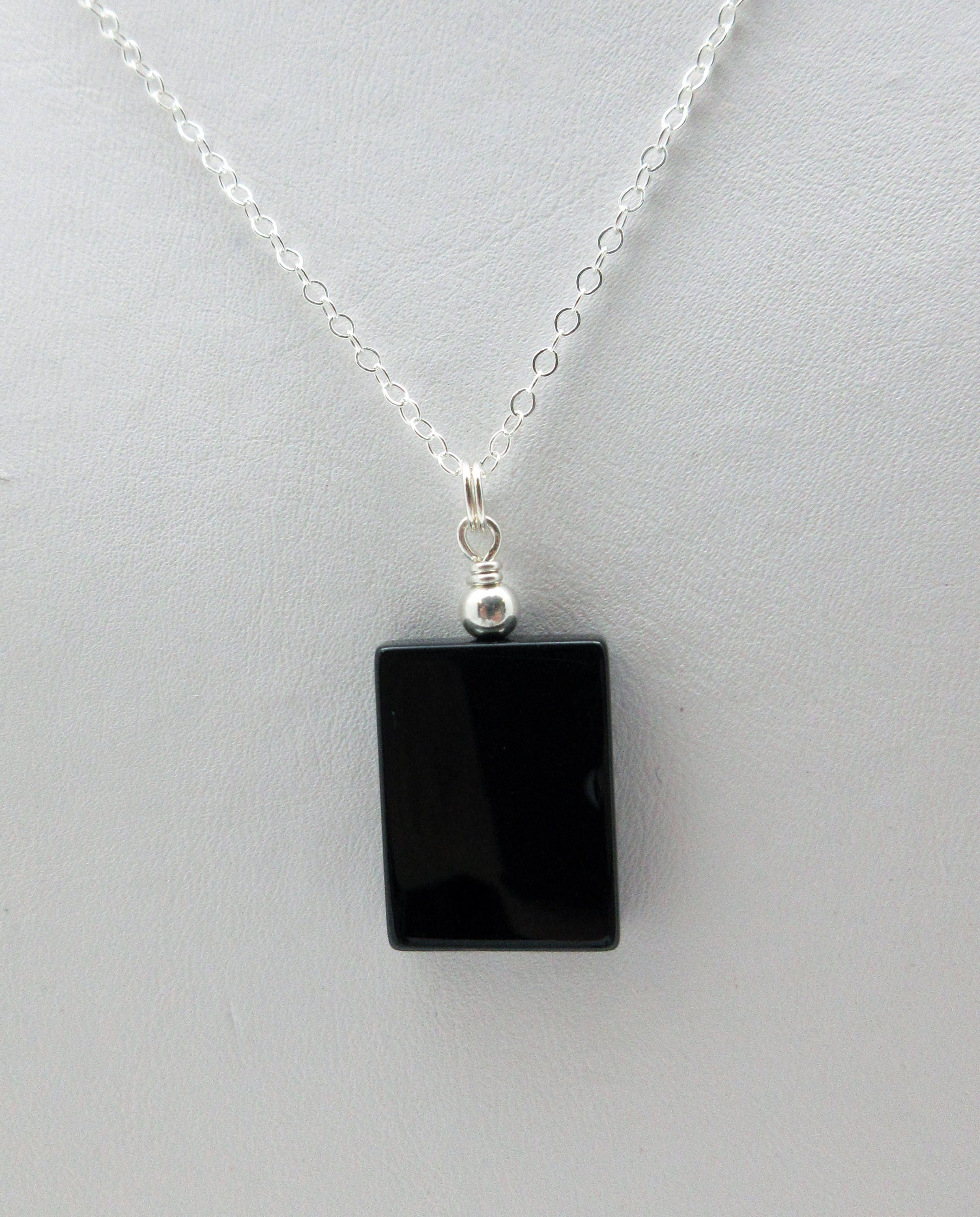 jewelry me img necklaces silver azen products onyx rock pendant signature collections