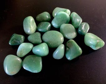 Natural Aventurine Crystals Ethically Sourced from Brazil - Sold in Sets of 5, 10 or 50 Aventurine Tumbled Stones