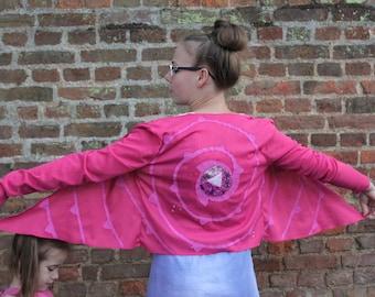 rose quartz shield pattern Ladies Cardigan Pink glitter