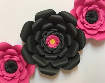 Kate Spade Inspired Paper Flower Set - Kate Spade, bridal shower, bachelorette party, room decor