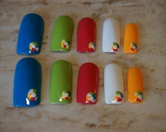 Summer Beach Ball Nails