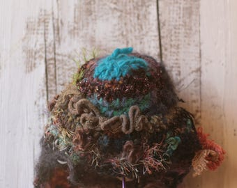 patchwork wool hat