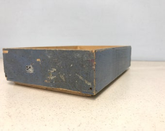 Small Blue Vintage Wooden Boxes