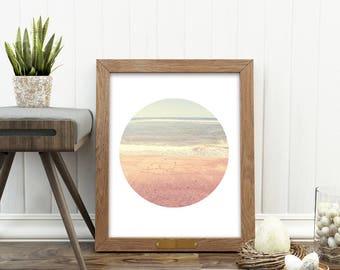 beach print, digital download, summer print, ocean waves, California photography, nursery art printable, nautical decor, coastal art