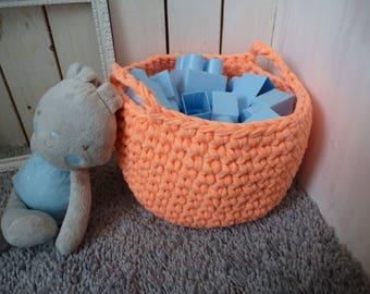 salmon crochet storage basket