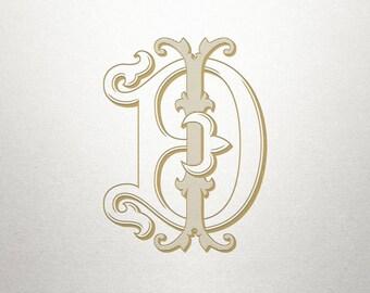 Digital Monogram Design - DI ID - Digital Monogram - Vintage