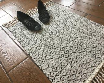 Modern Kitchen Mat handwoven rug | etsy