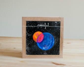 """Original and Unique Card - """"Peaceful"""""""