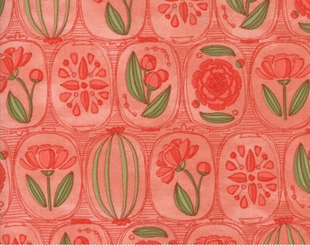 Petal Pink Floral Cameos from the Blushing Peonies collection by Robin Pickens for Moda Fabrics, Choose the Cut, 48611 11, Peony