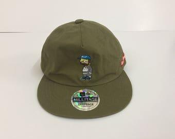 BART SIMPSON Hat/Bart Simpson X Millitage 5 Panel Snapback Hats Caps