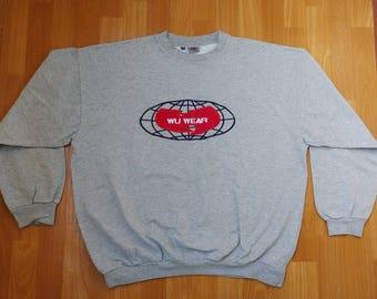 WU WEAR sweatshirt, vintage hip hop jacket sewn, authentic Wu Tang Clan, 90s hip-hop clothing, 1990s og gangsta rap hoodie, size XXL 2XL