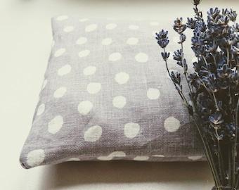 Organic Buckwheat Pillow - linen pillowcase - light purple - baby pillow - natural linen - buckwheat hulls - eco friendly - handmade