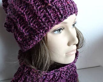 Hat and snood for women - one size
