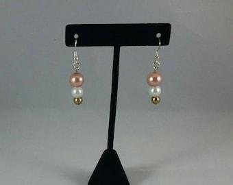 Handmade Earrings neopolitan colors