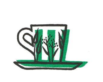 Coffee cup (riso print)
